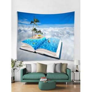 Wall Hanging Art Beach Holiday In Book Print Tapestry -
