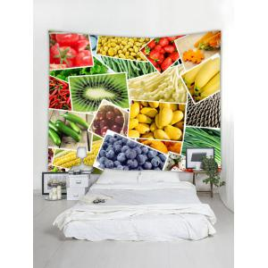 Wall Hanging Art Vegetables and Fruits Print Tapestry -