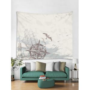 Nautical Compass Printed Wall Art Tapestry -