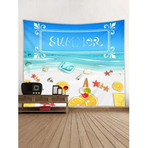 Wall Hanging Art SUMMER Beach Print Tapestry -