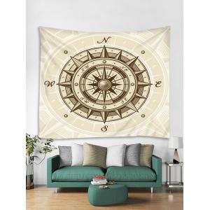 Compass Vector Printed Wall Hanging Tapestry -