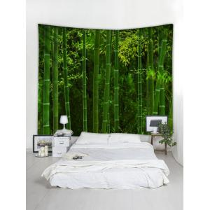Wall Hanging Art Bamboo Forest Print Tapestry -