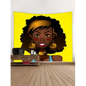 African Girl Pattern Wall Hanging Tapestry -