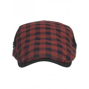 Vintage Plaid Pattern Cabbie Hat -
