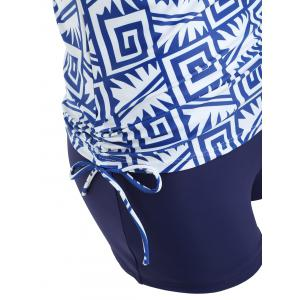 Printed Empire Waist Boyshort Tankini -