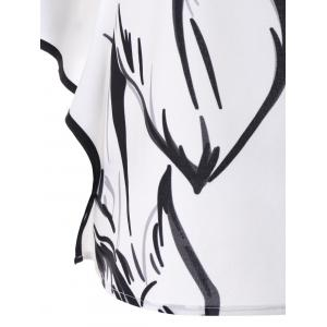 Ink and Wash Short Sleeve Blouse -