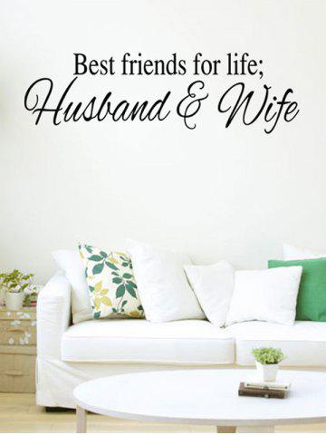 Best Husband and Wife Dictum Printed Wall Decal
