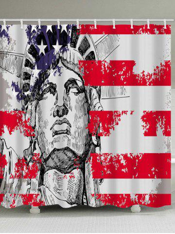 Outfits American Flag and Statue of Liberty Print Waterproof Shower Curtain