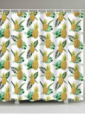 Affordable Pineapple Pattern Polyester Fabric Shower Curtain