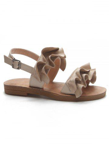Outfits Leisure Ruffles Decorated Sandals for Holiday