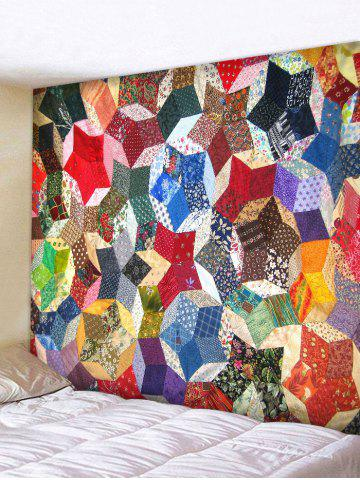Cheap Wall Hanging Art Geometric Patchwork Print Tapestry