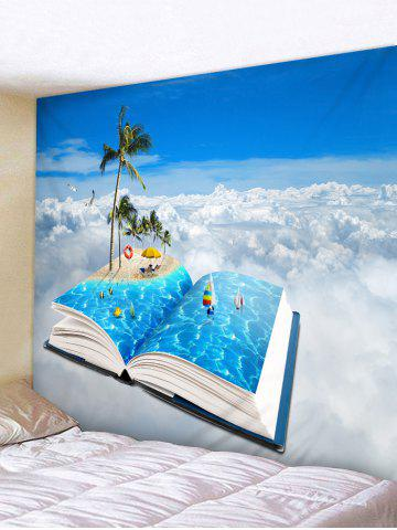 Cheap Wall Hanging Art Beach Holiday In Book Print Tapestry