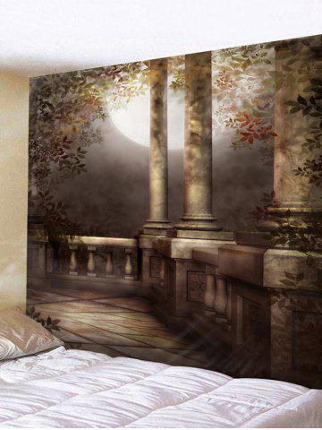 Unique Moon Night Architecture Print Wall Tapestry