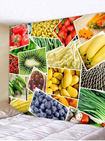 Trendy Wall Hanging Art Vegetables and Fruits Print Tapestry