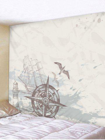 Store Nautical Compass Printed Wall Art Tapestry