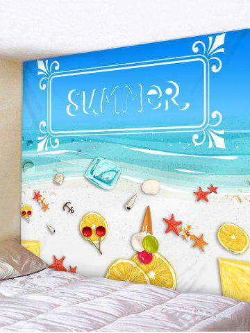 Affordable Wall Hanging Art SUMMER Beach Print Tapestry