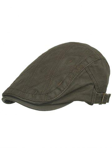 Trendy Rhombus Embroidery Driver Hat