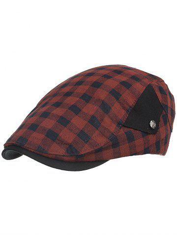 Outfits Vintage Plaid Pattern Cabbie Hat