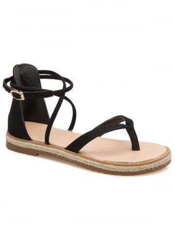 Affordable Criss Cross Flat Heel Ankle Strap Sandals