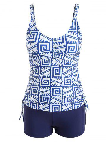 Affordable Printed Empire Waist Boyshort Tankini