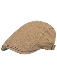 Rhombus Embroidery Driver Hat -
