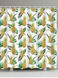 Pineapple Pattern Polyester Fabric Shower Curtain -