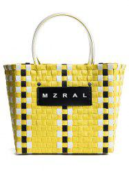 Plaid Pattern Open Leisure Tote Bag -