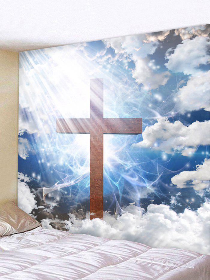 Affordable Cross in the Sky Printed Wall Art Tapestry