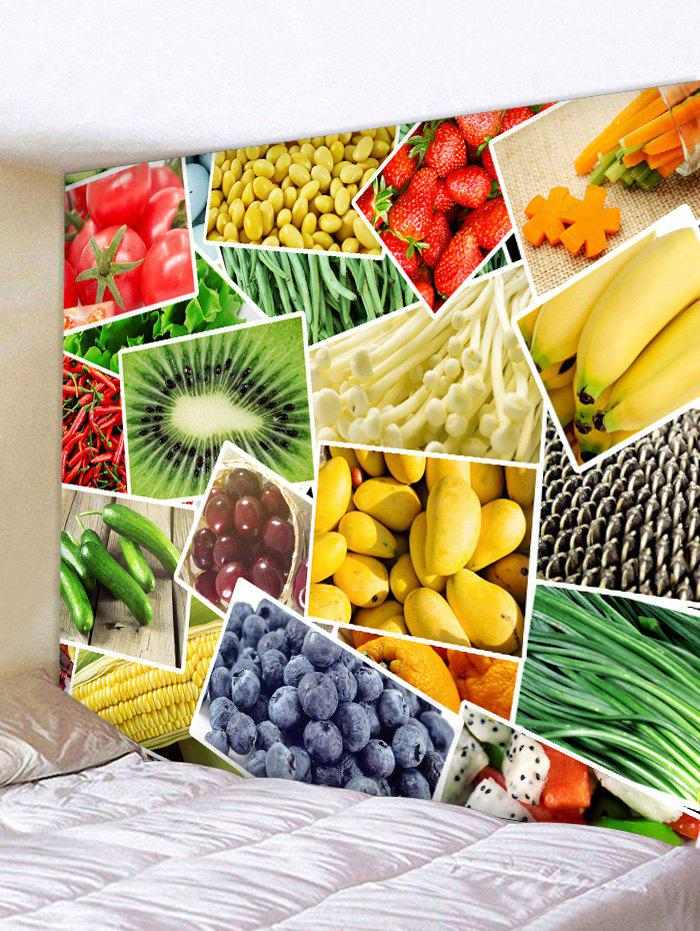 Fancy Wall Hanging Art Vegetables and Fruits Print Tapestry