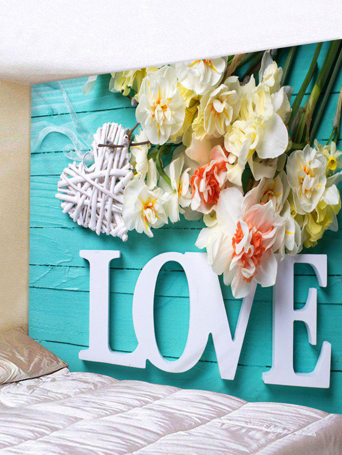 Latest Love Flowers Printed Wall Art Tapestry