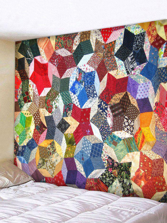 Discount Wall Hanging Art Geometric Patchwork Print Tapestry