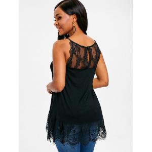 Lace Trim Fitted Tank Top -