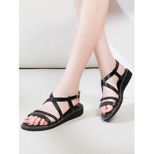 Lanbaoli Ankle Strap Open Toe Beach Sandals - BLACK Outlet Authentic Wide Range Of Clearance Shop For Perfect Cheap Price Buy Online With Paypal ZHvfbZPl