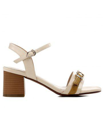 Affordable Lanbaoli Block Heel Color Blocking Sandals