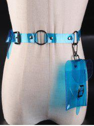 Funny Bag Transparent Plastic Waist Belt -