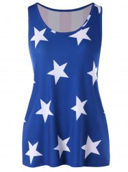 Stars Front and Striped Back Tank Top -