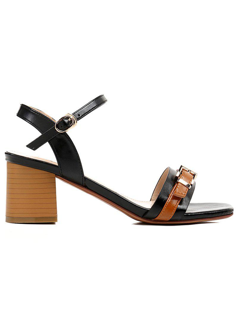 Sale Lanbaoli Block Heel Color Blocking Sandals