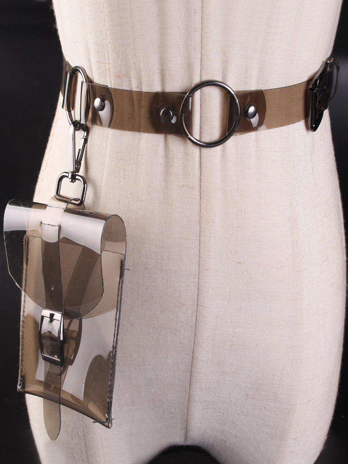 Hot Funny Bag Transparent Plastic Waist Belt