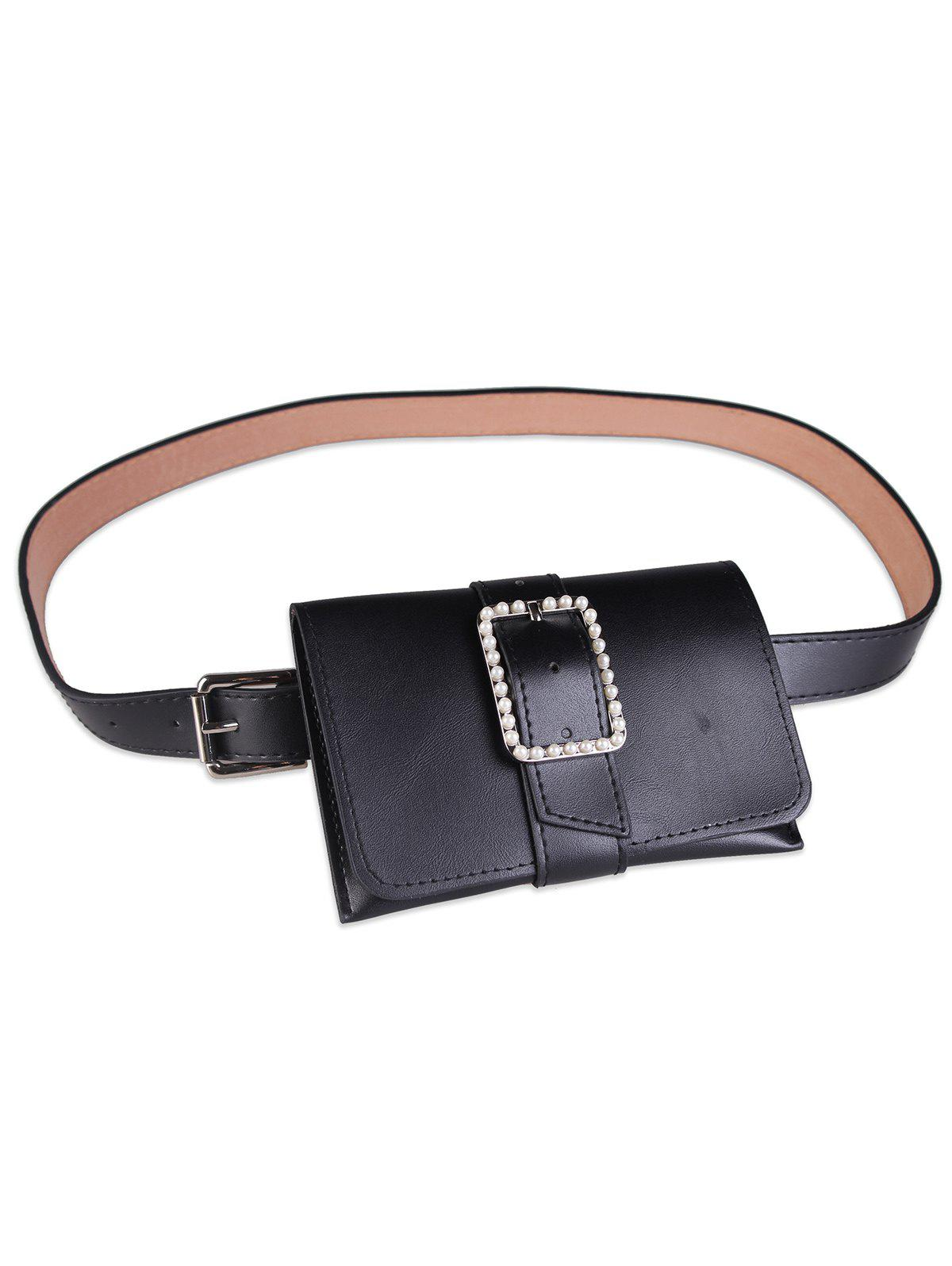 New Funny Faux Pearl Bag PU Leather Waist Belt