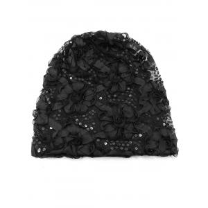 Unique Stereoscopic Floral Decorated Beanie -