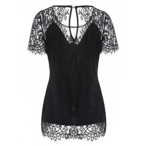 Short Sleeve Lace T-shirt -