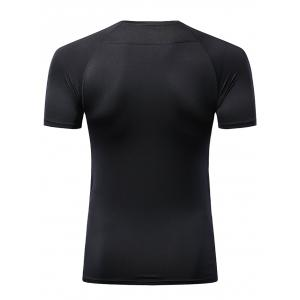 Quick Dry Short Sleeve Fitted Stretchy Fitness T-shirt -