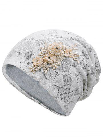 New Unique Blooming Flowers Lace Beanie