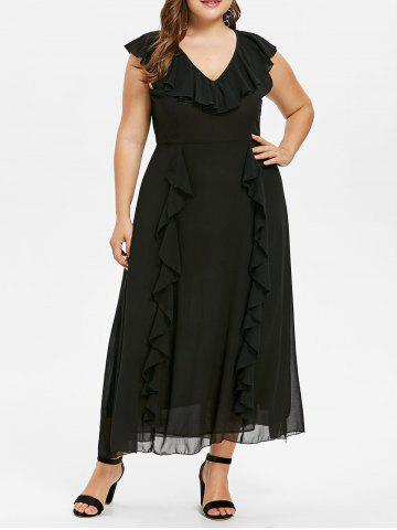 Affordable Plus Size Ruffle Maxi Dress