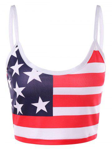 Affordable American Flag Crop Slip Top