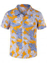 Short Sleeve Button Up Floral Hawaii Shirt -