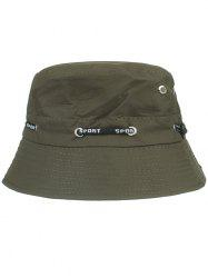 Outdoor Line Embroidery Bucket Sun Hat -