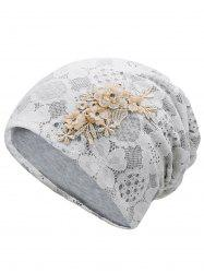 Unique Blooming Flowers Lace Beanie -