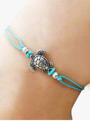 Tortoise Adjustable Braid Rope Anklet -