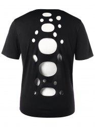 V Neck Hollow Out Tee -